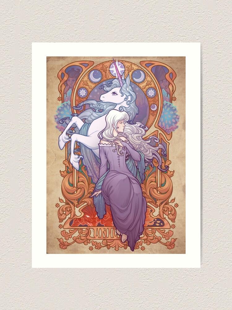 Alternate view of Lady Amalthea - The Last Unicorn Art Print