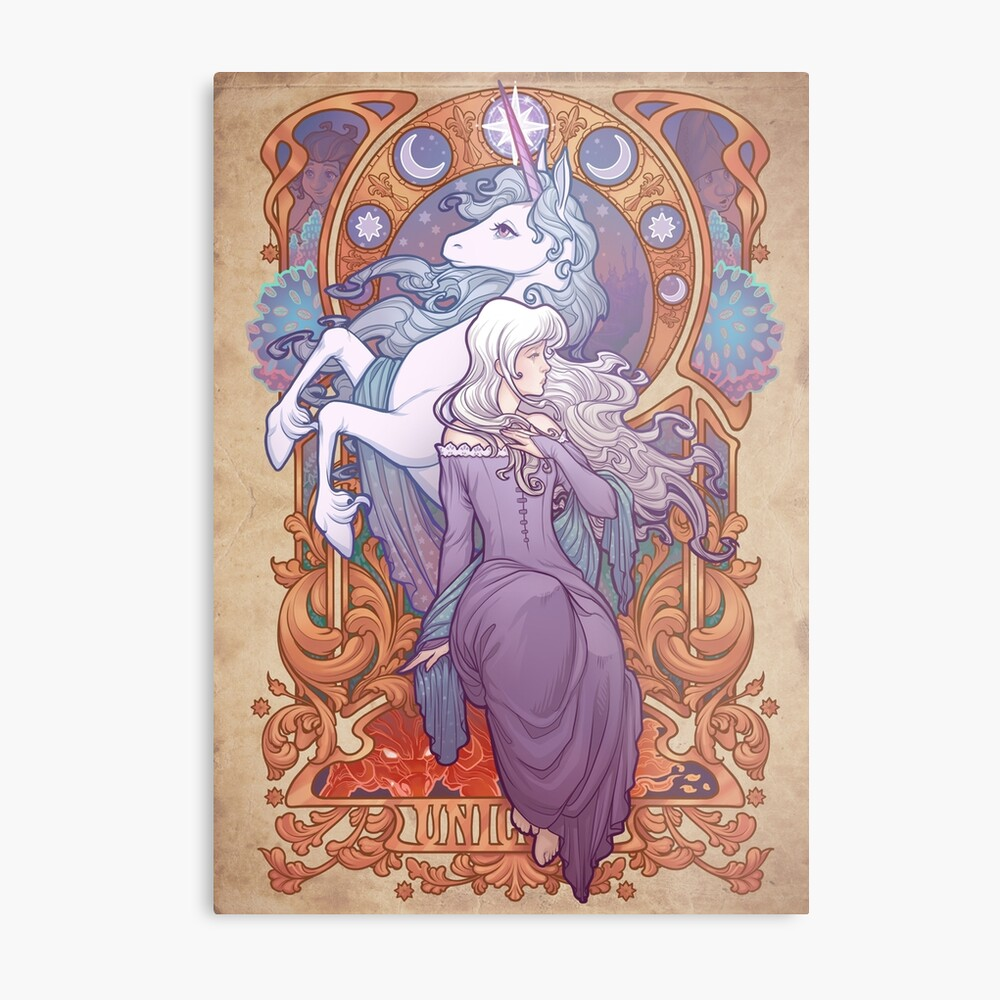 Lady Amalthea - The Last Unicorn Metal Print