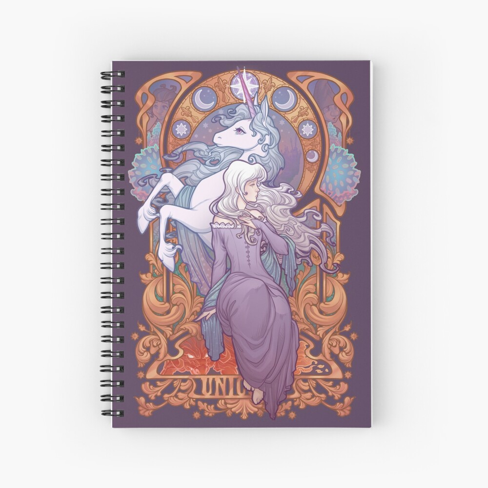 Lady Amalthea - The Last Unicorn Spiral Notebook