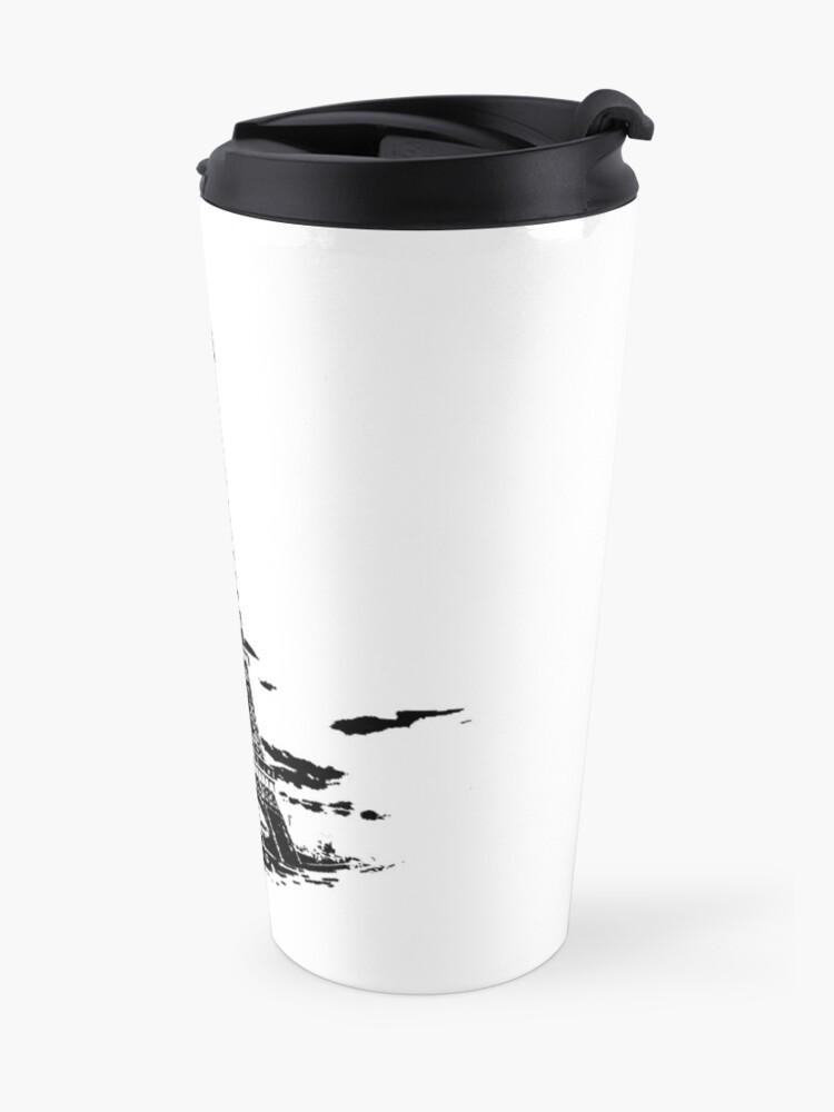 Alternate view of Eiffel Tower Stencil France (b) Travel Mug