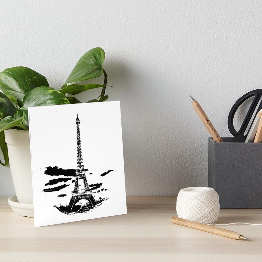 Eiffel Tower Stencil France (b) Art Board Print