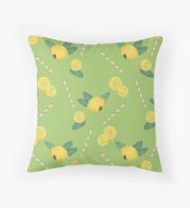lemonade_green Throw Pillow