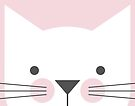 Peek-a-Boo Cat, Soft Pink by Kendra Shedenhelm