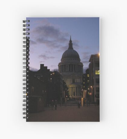 St. Paul's Cathedral at Dusk Spiral Notebook