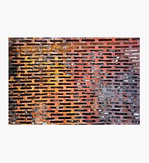 Old rusted metal background in New York, USA Photographic Print
