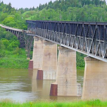 Old Nipawin Bridge Over Saskatchewan River,Sask.Canada by MaeBelle