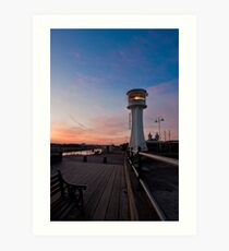 Littlehampton Lighthouse at dusk Art Print