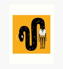 the discrete charm of swallowing your own tail Art Print