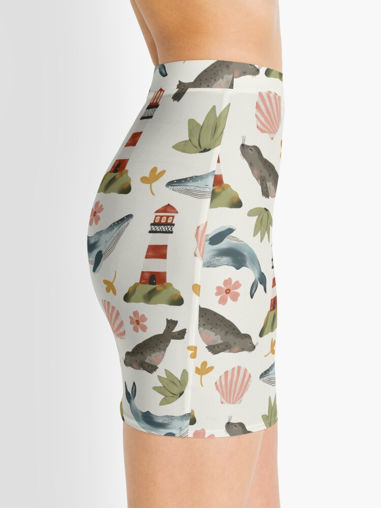 Alternate view of Lighthouses, Seals, and Whales Mini Skirt