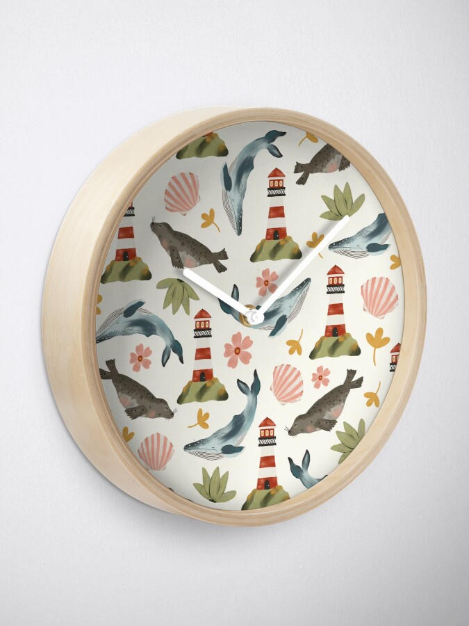 Alternate view of Lighthouses, Seals, and Whales Clock