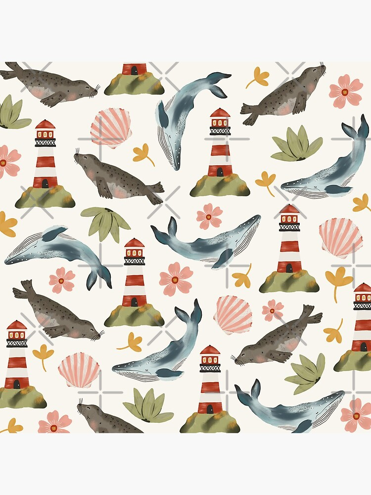 Lighthouses, Seals, and Whales by ohjessmarie