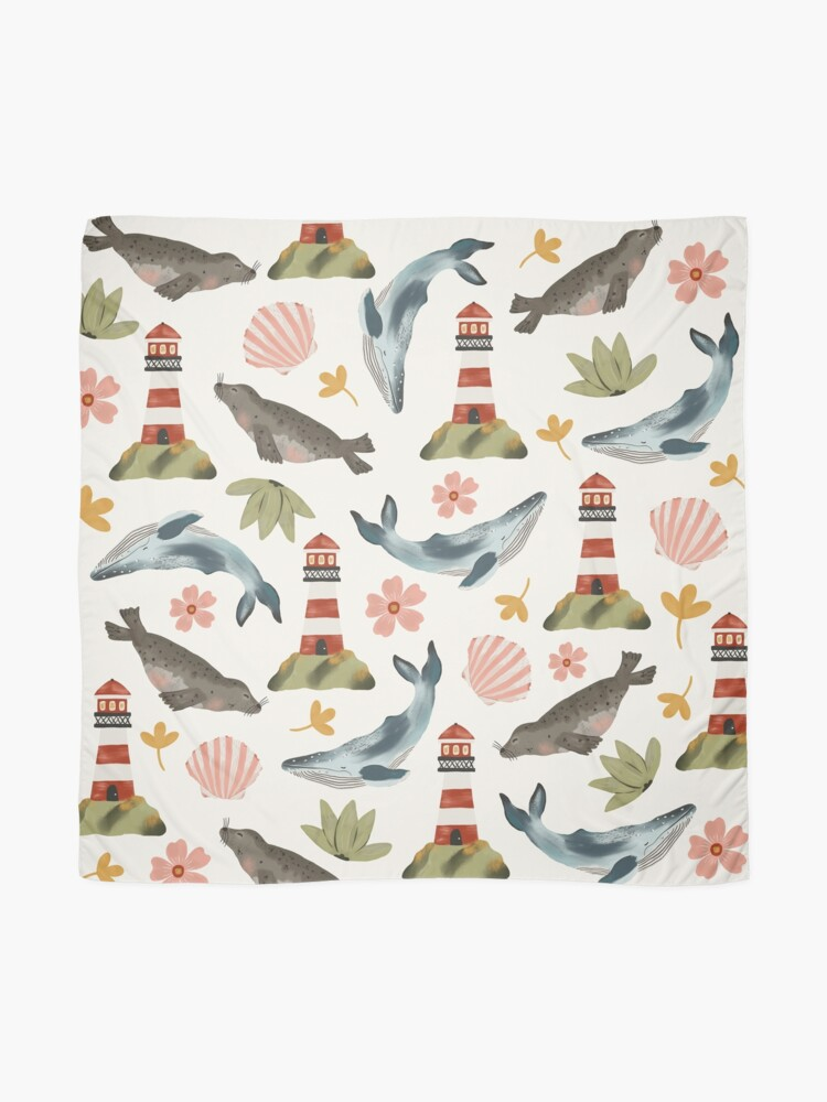 Alternate view of Lighthouses, Seals, and Whales Scarf