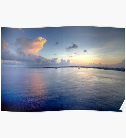 Grand Cayman HDR Sunrise Poster