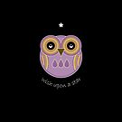 Wish Upon A Star - Purple Owl by Louise Parton