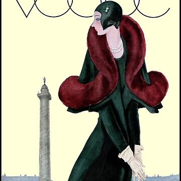VOGUE: Vintage Autumn 1929 Magazine Advertising Print von posterbobs