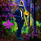 NEW ORLEANS TRUMPET LET THE GOOD TIMES ROLL by Saundra Myles