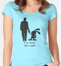 It all started with a rabbit. Women's Fitted Scoop T-Shirt