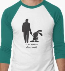 It all started with a rabbit. Men's Baseball ¾ T-Shirt