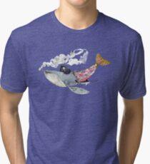 Pirate Whale Tri-blend T-Shirt