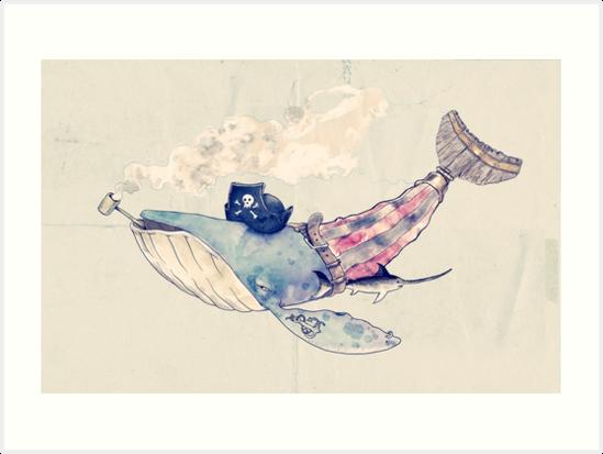 Pirate Whale by erdavid