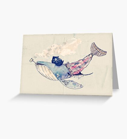 Pirate Whale Greeting Card