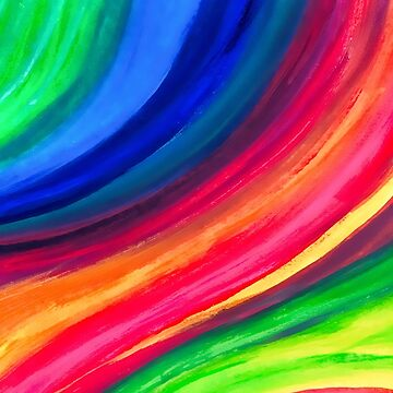 Rainbow Abstract Art by newburyboutique