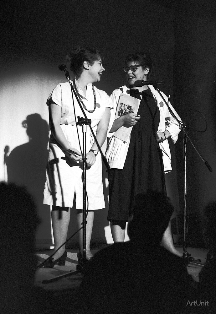 Mandy and Melanie Salomon perform at Sedition at The Sydney Trade Union Club 1983 by ArtUnit