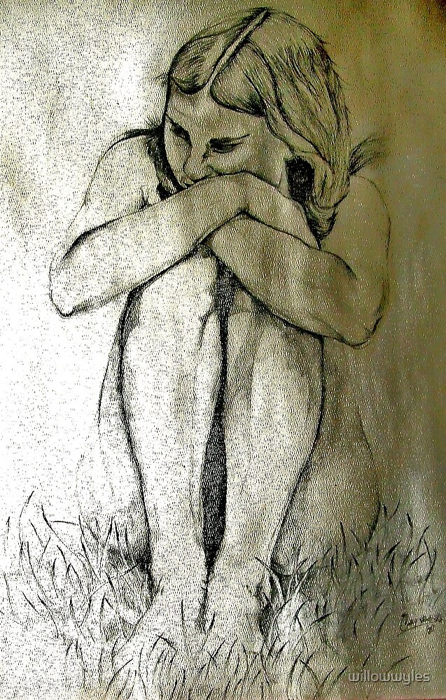 Nude Pencil Sketch by Willow Wyles