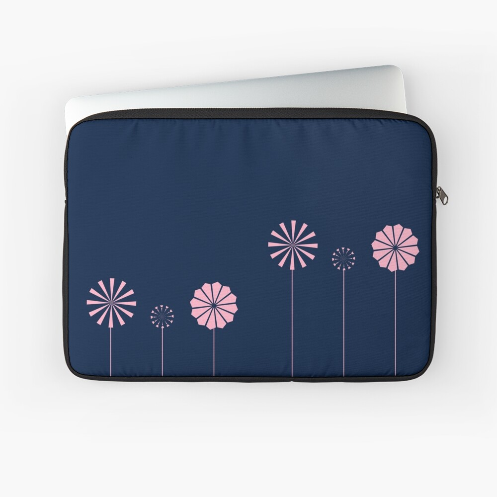 Pink Flowers at Night Laptop Sleeve