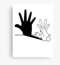 Rabbit Hand Shadow Metal Print