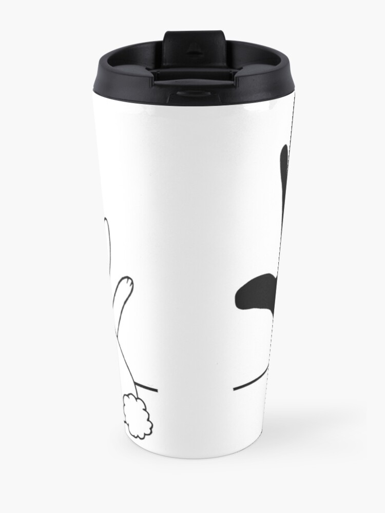 Alternate view of Rabbit Hand Shadow Travel Mug