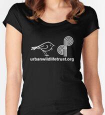 Urban Wildlife Trust Tui ALT Logo (white) Women's Fitted Scoop T-Shirt