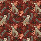 «Leopardo. Patrón rojo tropical» de JuliaBadeeva