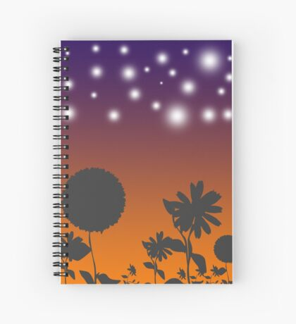 Flowers at Sunset Spiral Notebook