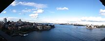 Panoram of Sydney Harbour June 2010 by Bernie Stronner