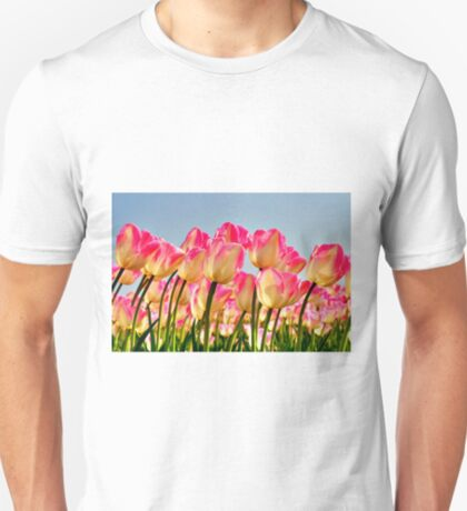 Pink Tulips Bow For The Sun T-Shirt