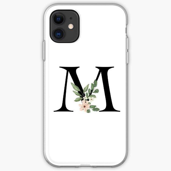 Botanical letter M iPhone Soft Case