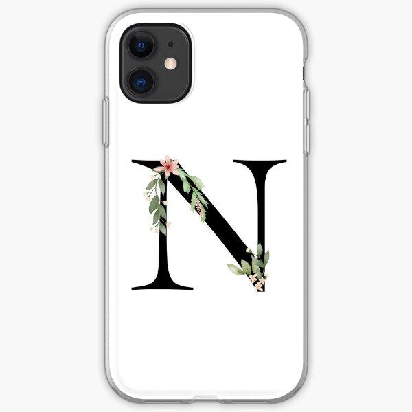 Botanical letter N iPhone Soft Case