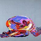 Yoga Nude Pose Painting 862 by Eraclis Aristidou