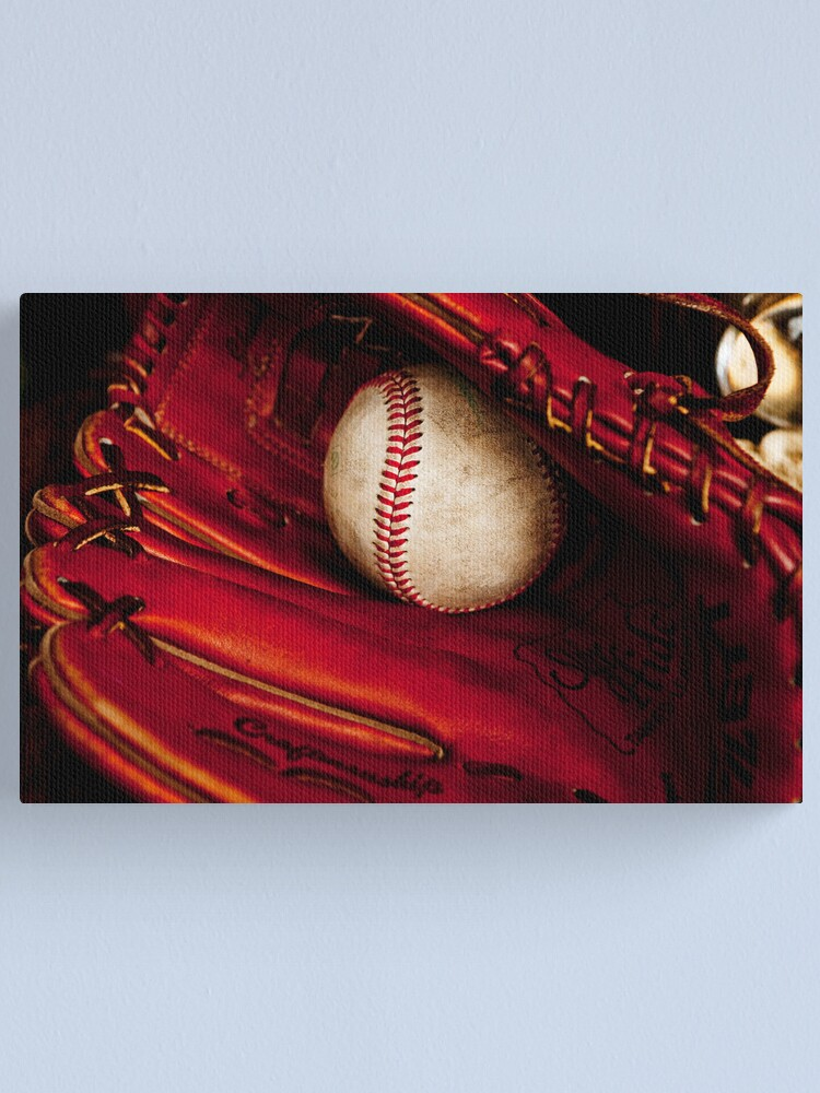 Alternate view of Baseball glove and ball Canvas Print