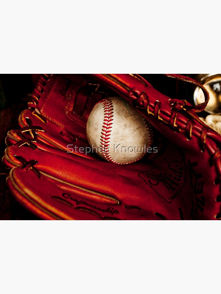 Baseball glove and ball by stephenknowles