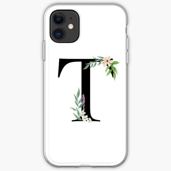 Botanical letter T iPhone Soft Case