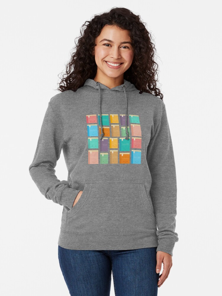 Alternate view of Cute Kawaii Books Lightweight Hoodie