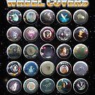 Animal Car Wheel Covers by Stephen Wildish