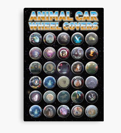 Animal Car Wheel Covers Canvas Print