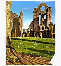Summer Sun On Arbroath Abbey. Poster