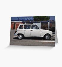 """Renault 4, """"Quatrelle"""" Greeting Card"""