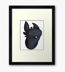 Night Fury Derp Design Framed Print