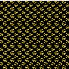 Sparkly Smiley face Gold black pattern by PLdesign
