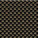 «Rostro sonriente brillante Patrón oro negro» de PLdesign
